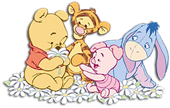 It's just a picture of Canny Baby Winnie the Pooh and Friends