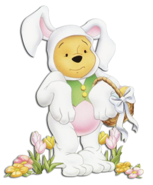 easter bunny pooh image