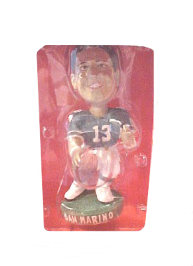 The NFL Bobblehead dolls are very well made and each player is holding a football and standing on 'turf'.