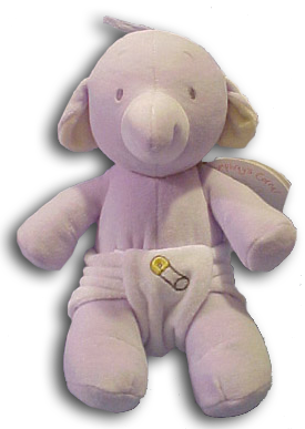 Baby Gund's Humphrey's Corner Baby Elephants are perfect for little hands to hold.  They come in Rattles and Plush.