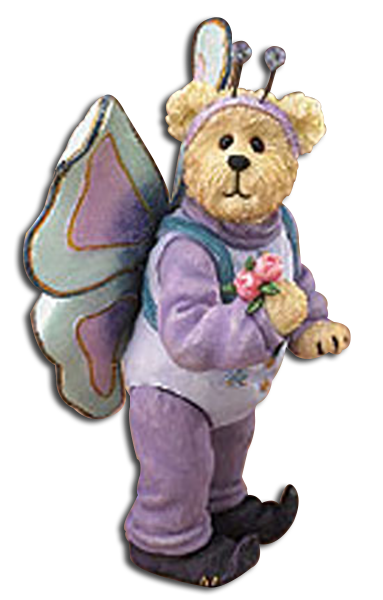 Boyds adorable teddy bears and fairys are dressed up as cute little insects, butterflies, ladybugs, and bumble bees. Find these adorable insects in cuddly soft plush, ornaments and figurines.