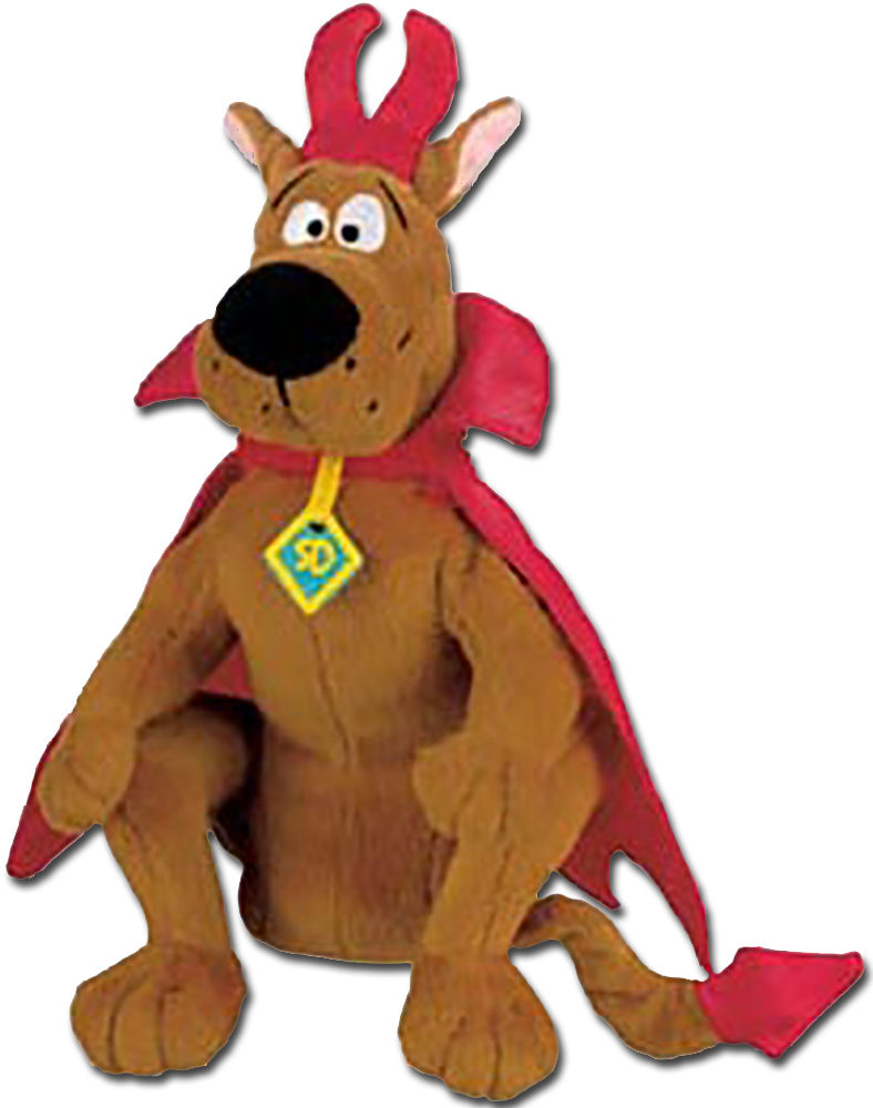 Scooby Doo is all dressed up for Halloween as a vampire, witch, devil and mummy as these adorable Halloween Stuffed Animals.