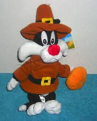 Sylvester is all dressed up and ready to wish someone a Happy Thanksgiving.