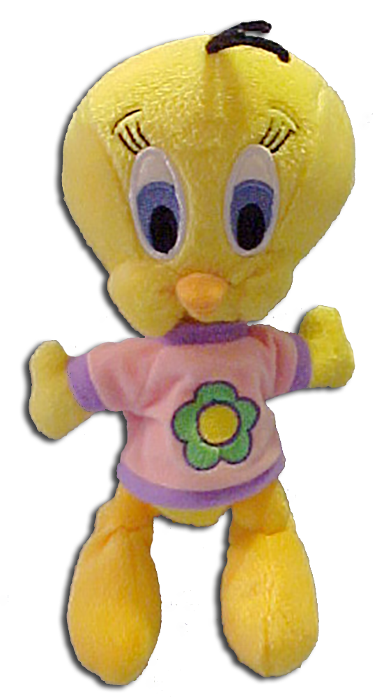Tweety is all dressed up and ready to wish someone a Happy Mother's Day as this plush doll.