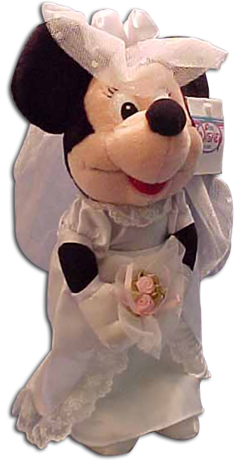 unique gift idea and wedding decoration with Minnie Mouse as the bride
