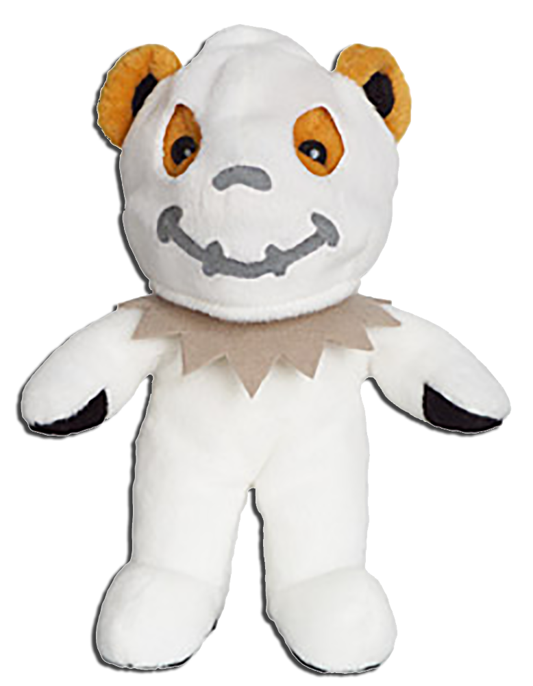 Grateful Beanie Bears and Plush are adorable bears that are cute, fuzzy, and come in  psychedelic colors.  They come in Adorable Halloween Editions Ghosts, Skeletons and MORE!