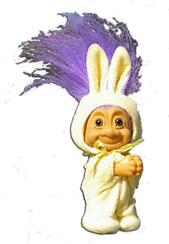 Click here to go to our Russ Berrie Easter Plush Trolls Home Buddies and Wishlings Bunnies to Lambs