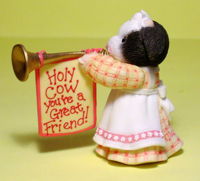Mary's Moo Moos Holy Cow You're a Great Friend Figurines for Friendship