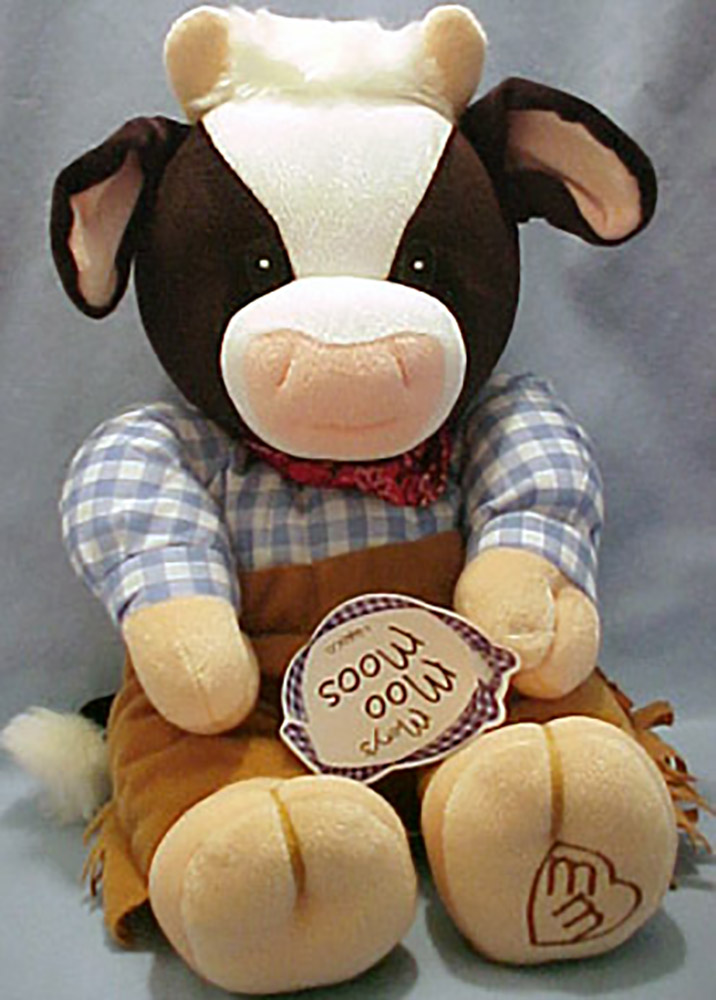 Mary's Moo Moos are adorable Cows dressed as Cowgirls and Cowboys in figurines and stuffed animals.