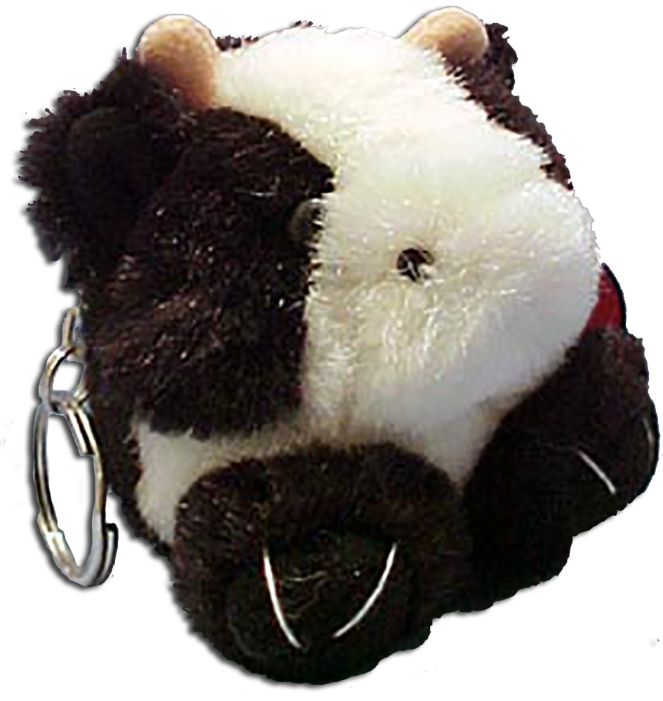 Adorable bulls, cows and mice as soft plush keychains to take with you anywhere.