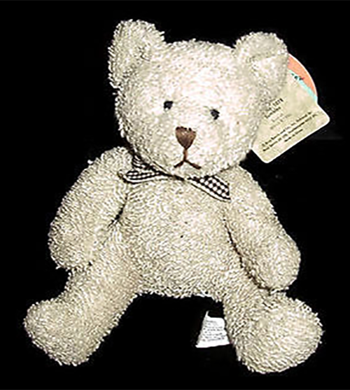 Russ Berrie's Home Buddies are teddy bears too! These adorable teddy bears come in several colors and have a date of birth on their tags perfect for small hands to hold and machine washable!