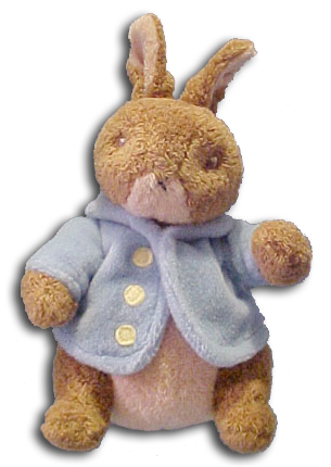 Peter Rabbit and his Friends by Beatrix Potter has been made into adorable plush characters.  He looks as if she jumped right out of the book!