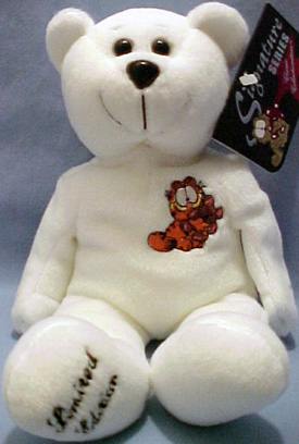 Garfield the adorable comical cat is available in a limited edition commerative Teddy Bear.