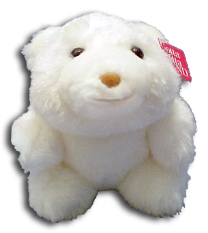 Gunds' signature bear Snuffles is in stock and ready to go home. Take home one of these beautiful white bear, that is soft cuddly white stuffed animal teddy bear