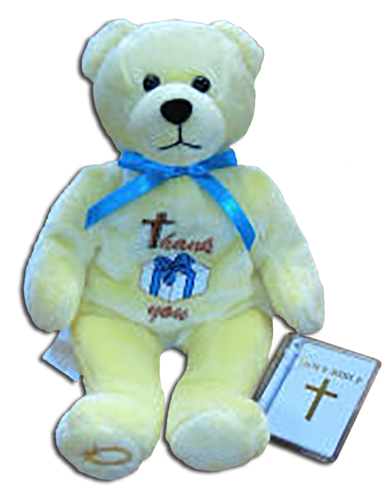 A Christian gift to celebrate Gratefulness. These adorable teddy bears were made by Holy Bears and make the perfect Thank You gift!