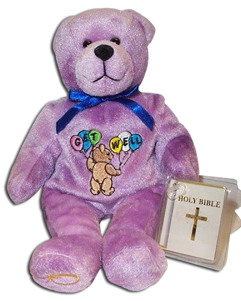 We carry a wide selection of Holy Bears including Teddy Bears to give Get Well Wishes for a special someone!