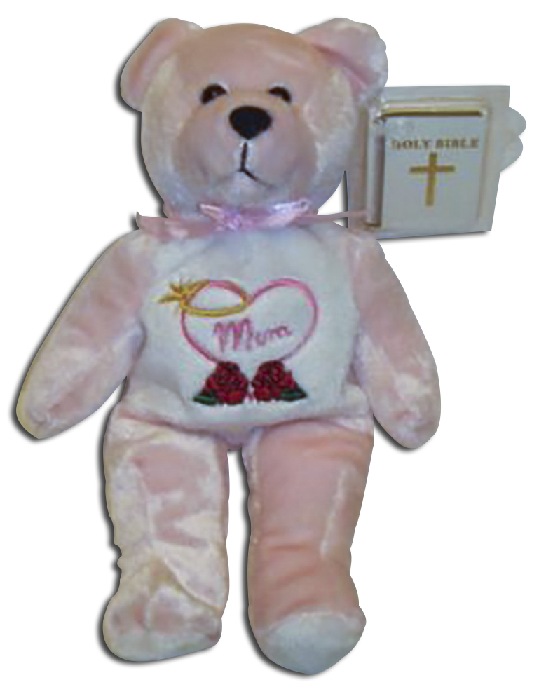 Mother's Day teddy bears by Holy Bears God Bless Mom from small plush teddy bears to large plush teddy bears that are soft and cuddly.