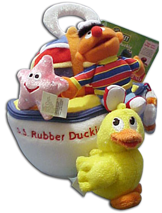 Sesame Street Merchandise for Baby and Toddlers from Bath Tub Toys to Plush Activity Toys.  Find Elmo, Ernie, Bert, Big Bird, Grover and all the rest of the gang Right here and ready to play!