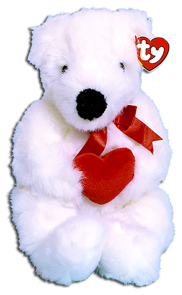 TY's adorable plush white Teddy Bears are perfect for Mom. Choose from a Red Ribbon white teddy bear to a gold ribboned bear.